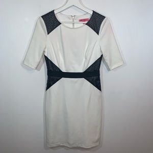 Betsy Johnson 4 Off White and Black Dress
